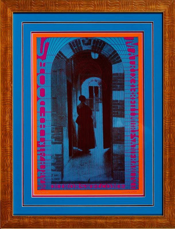 Moscoso, Victor The Doors - The Neon Rose Series 2nd Edition 1967 Framed 28.5 x 22