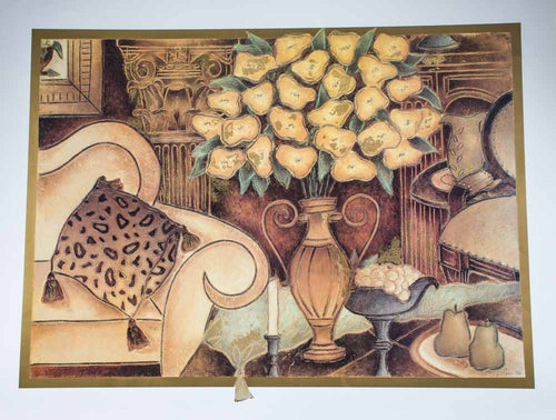 Shpritser, Eve ''Golden Chimes'' Offset Print. 31.25x40