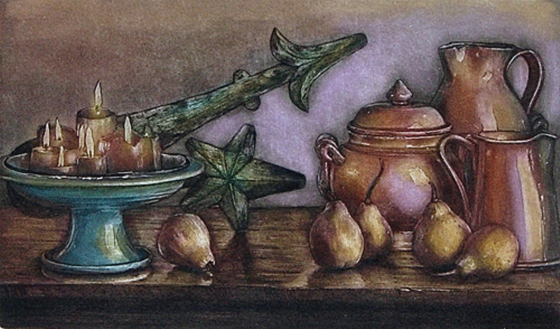 pears fruit still life pots portugal