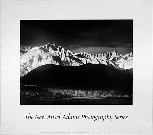 Ansel Adams Vintage Black and White poster of the mountains of Colorado