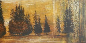 "Thompson, Linda ""Forest Silouettes I"" 18x36 Offset"