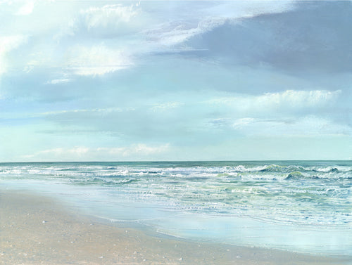 beach, riley, nautical, nature, coastal, ocean, waves, seven North art