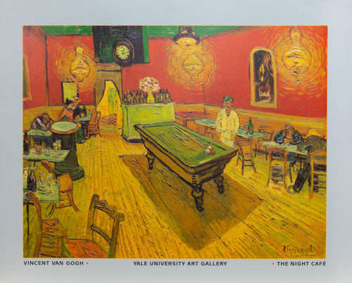 Van Gogh  1980's original show poster for Yale University Art Gallery