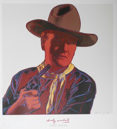 Warhol-Andy-John Wayne -Cowboys-and-Indians Print