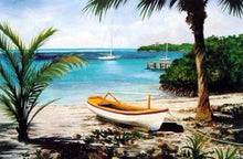 "Pettegrew, Peter ""Bahamian Boat Shack"" paper 18 x 24 image 13.25 x 20 offset Print $29 our $18 (Pairs with ""Boats at Rest"")"
