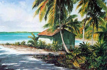 "Pettegrew, Peter ""Bahamian Boat Shack"" paper 18 x 24 image 13.25 x 20"