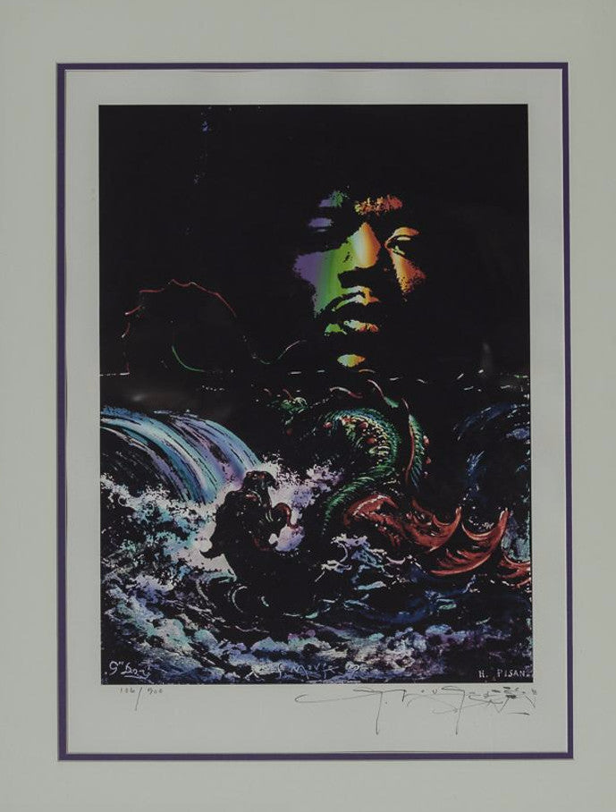 Jimi Hendrix Concert Poster Limited Edition 28.25 x 22.25