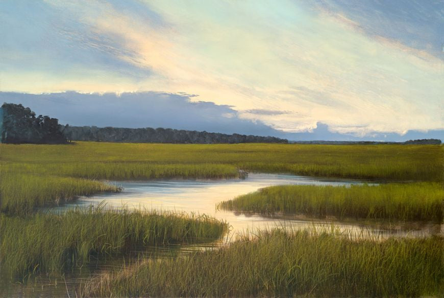 Southern Marsh Sun setting seven north art