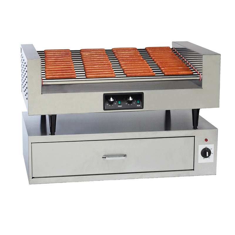 8225_8219 Hot Dog Roller Grill and Bun Warmer