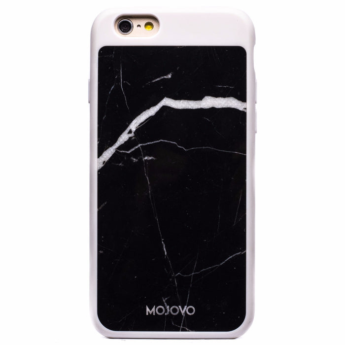 Mojovo Black Marble Back Case- Apple iPhone 6/6s (White Case)