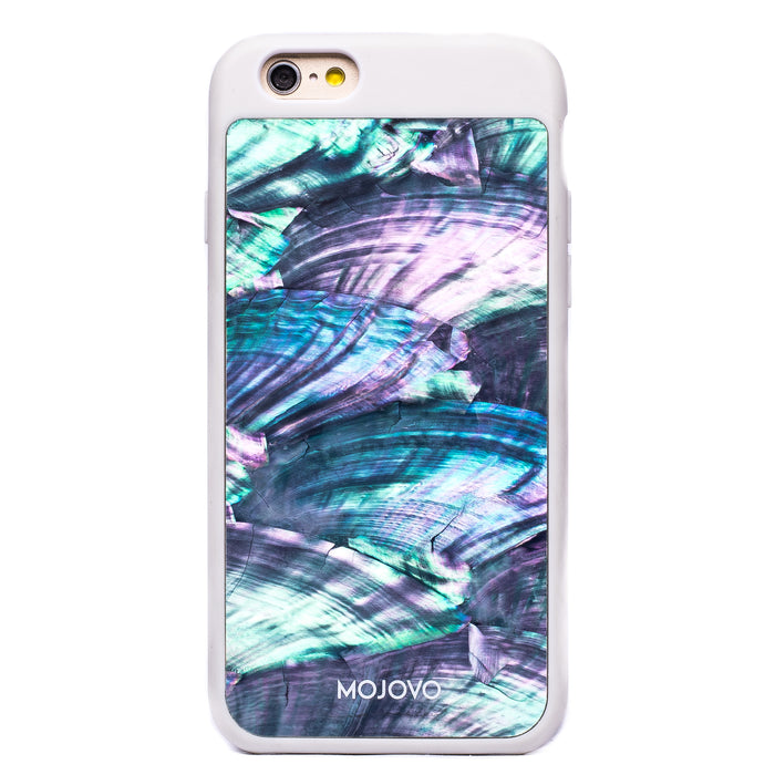 Mojovo Iridescent Sea Blue Back Case – Apple iPhone 6/6s (White Case)