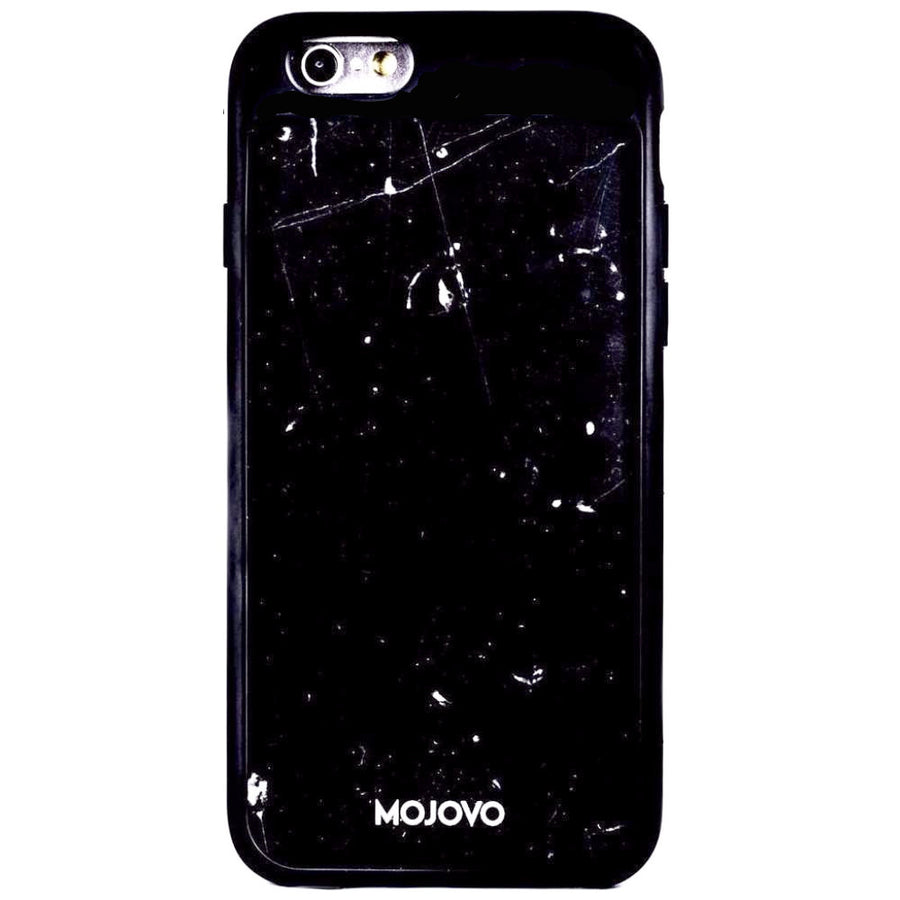 Mojovo Black Marble Back Case - Apple iPhone 6/6s (Black Case)