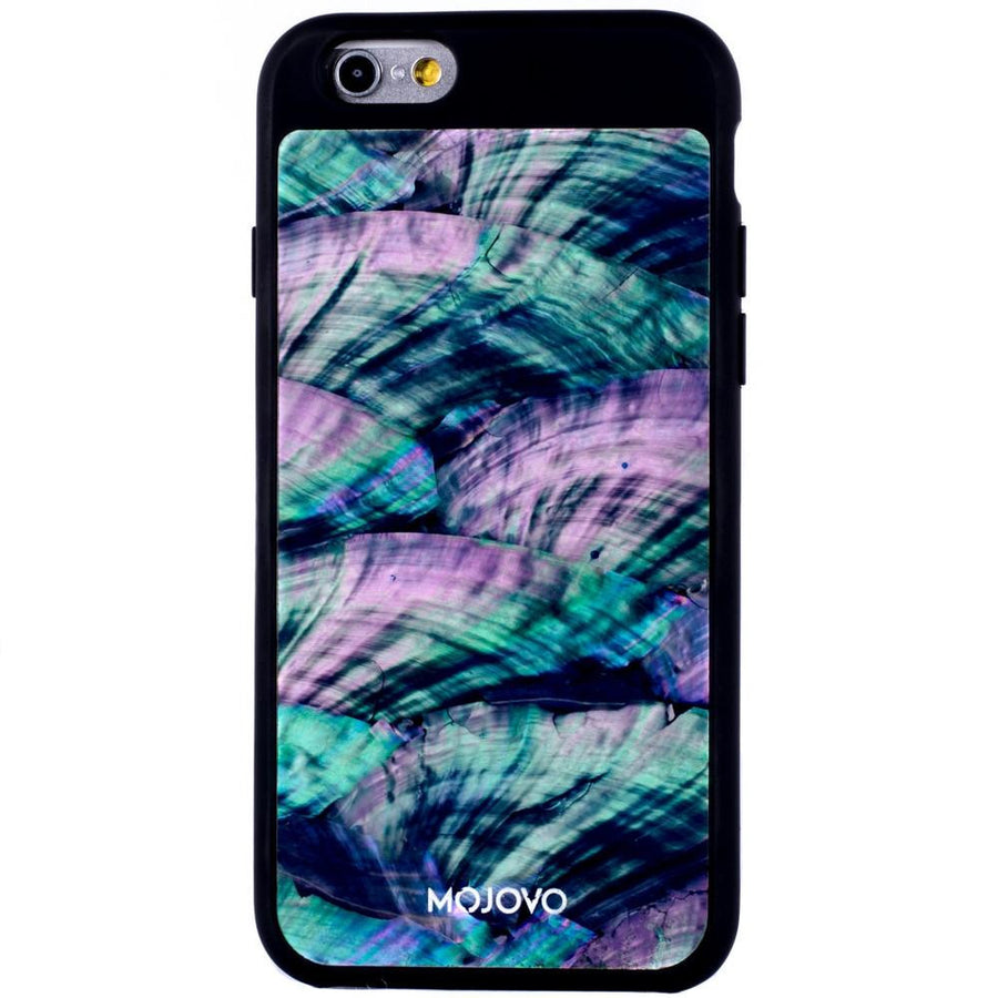 Mojovo Iridescent Sea Blue Back Case – Apple iPhone 6/6s (Black Case)