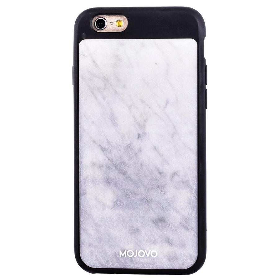Mojovo White Marble Back Case – Apple iPhone 6/6s (Black Case)