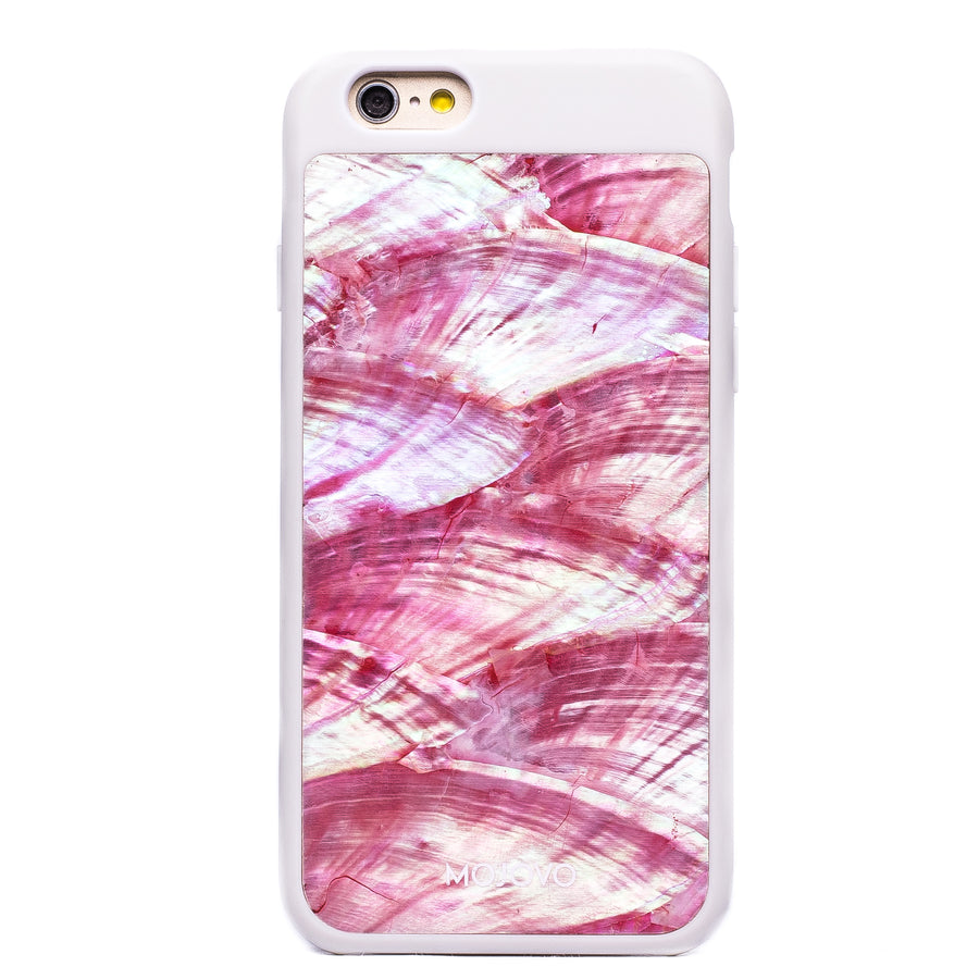 Mojovo Iridescent Coral Pink Back Case – Apple iPhone 6/6s (White Case)