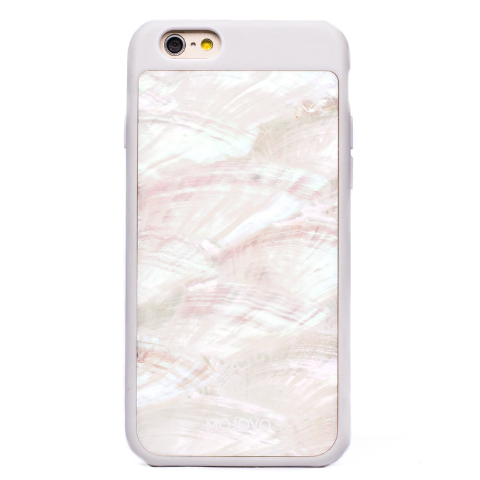 Mojovo Iridescent Pearl Back Case – Apple iPhone 6/6s (White Case)