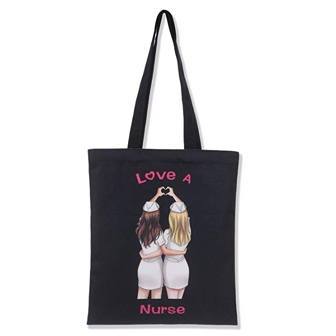 Valencia Med Tote Bag, Love A Nurse