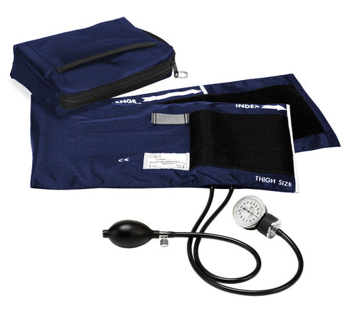 Premium X-Large Adult Aneroid Sphygmomanometer, Thigh / Arm Cuff - 6 Colors
