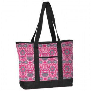Think Medical Fashion Print Utility Tote - Pink Paisley