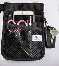 Valencia Med Organizer Belt. Holds Cell Phone, Key Hook, 2 sided-Reversible with 9 Pockets.
