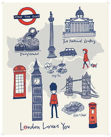 London Loves You - art print