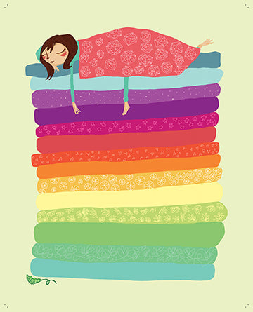 The Princess & the Pea - art print