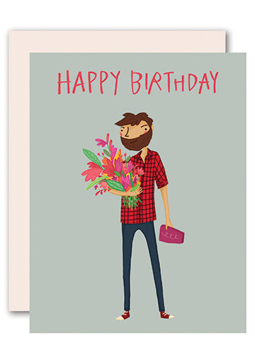 Lumberjack Birthday Card