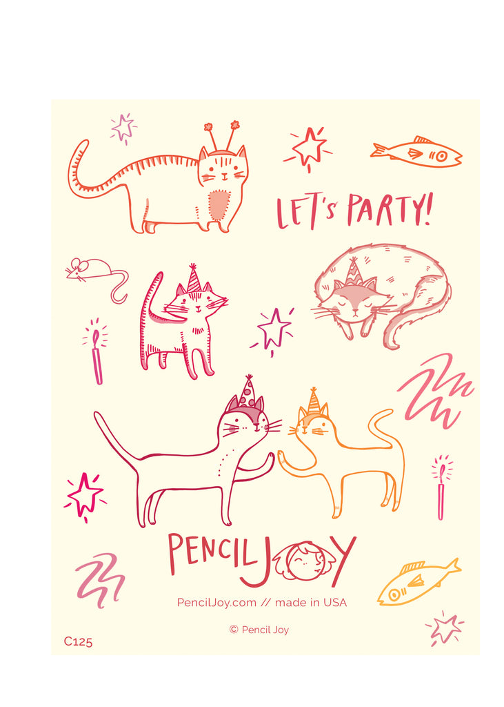 Cat Party Birthday Card