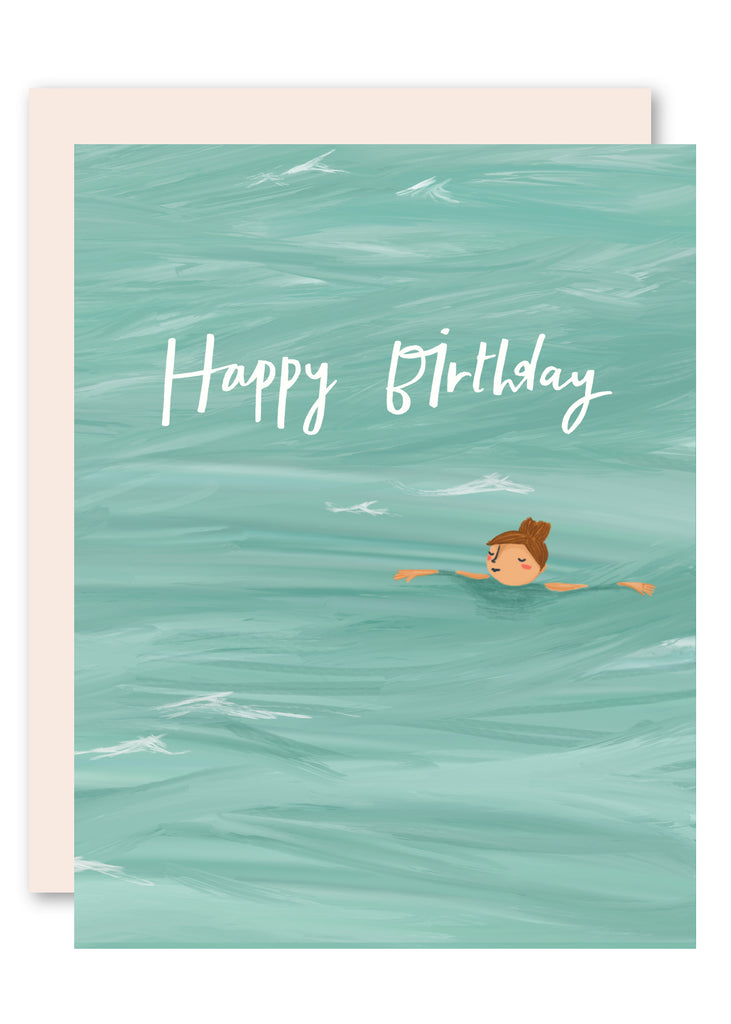 Floating on the Sea Birthday Card