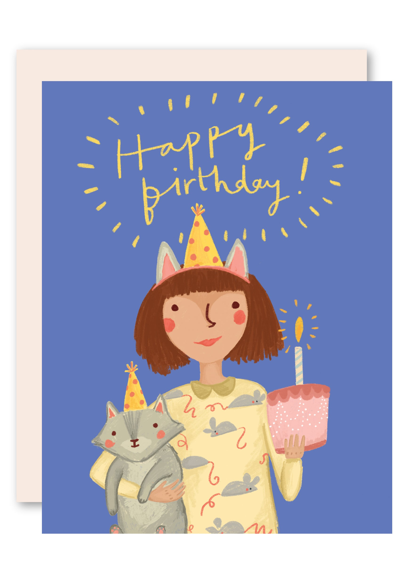 Cat Hat Birthday Card For Lovers By Pencil Joy