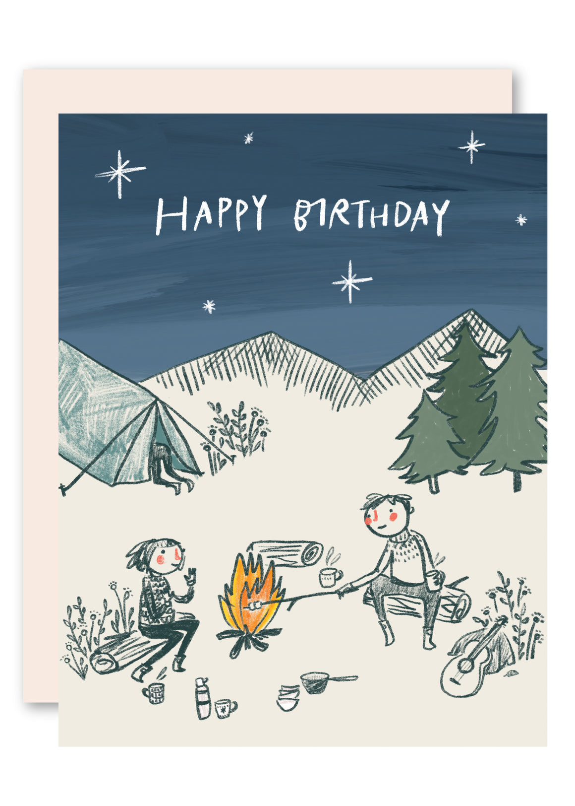 Camping Christmas Cards.Greeting Cards