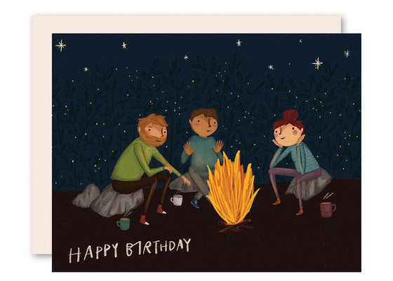 Bonfire Birthday Card
