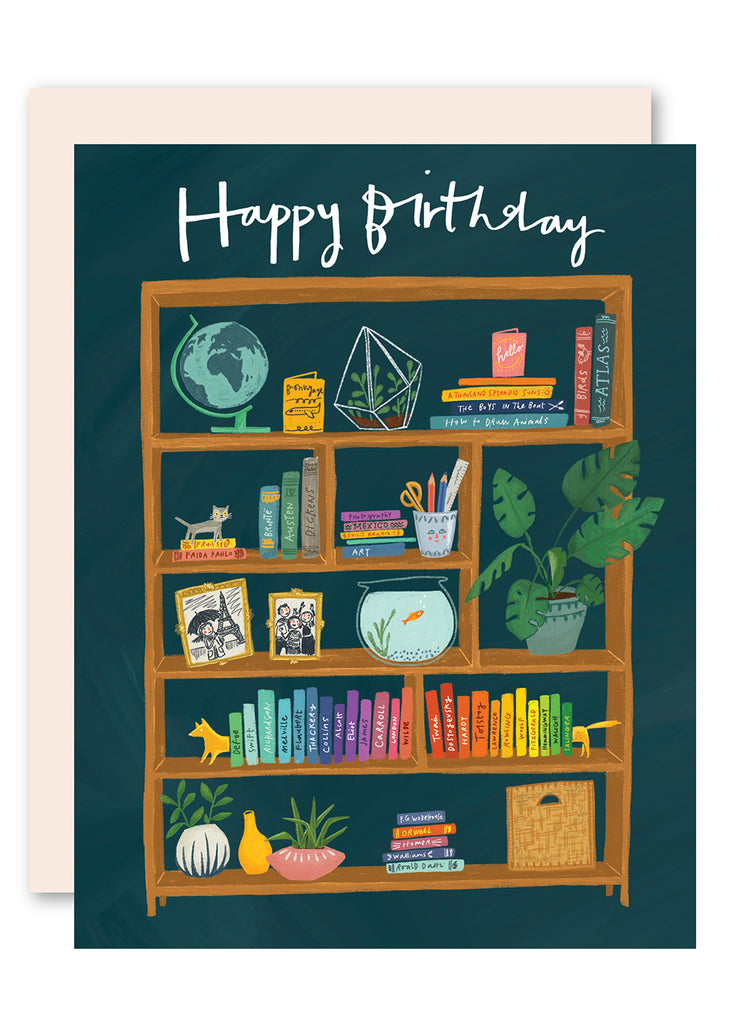 Bookcase Birthday Card