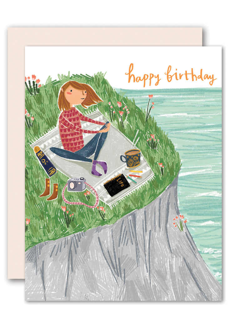 Clifftop birthday card