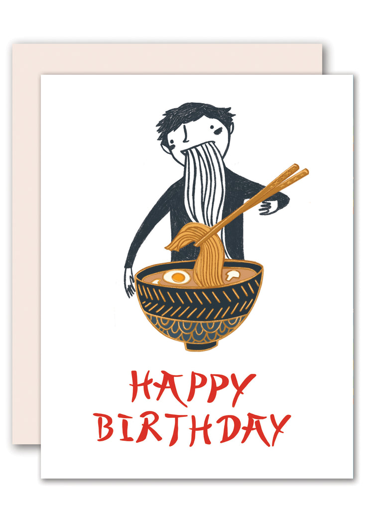 Ramen lover birthday card