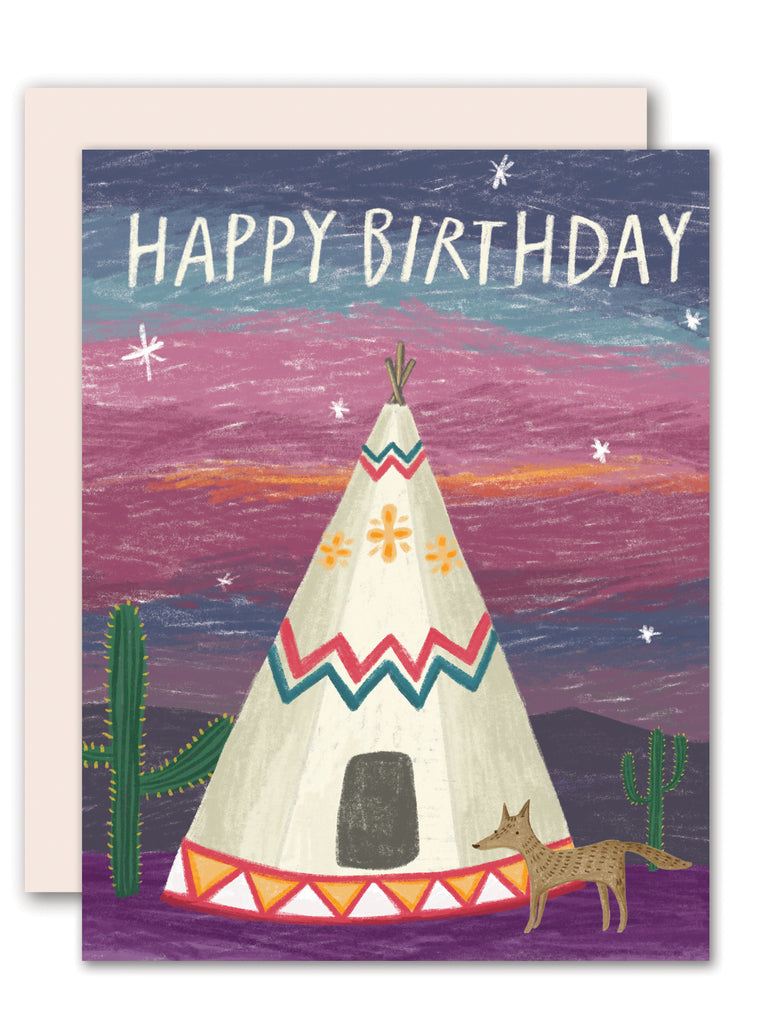Teepee- birthday card