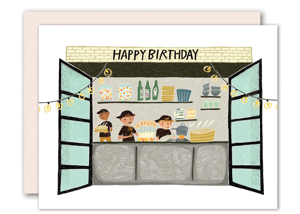 Kitchen - birthday card