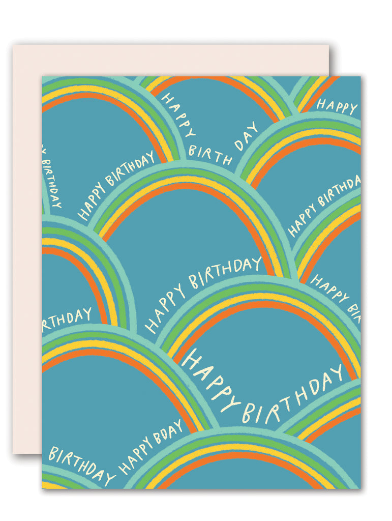 Rainbow - birthday card