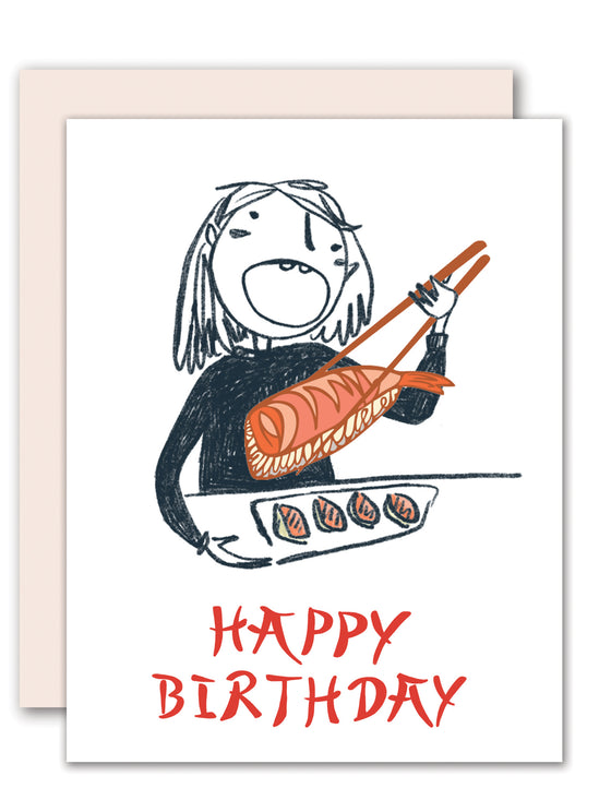 Sushi lover birthday card