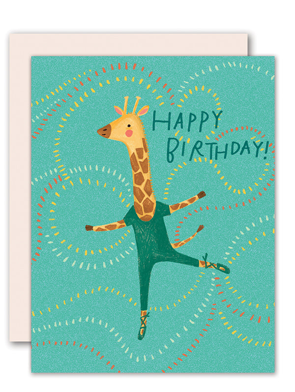 Giraffe Dancing Card