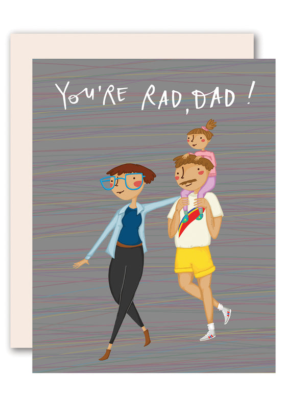 You're Rad, Dad! Happy Father's Day Card