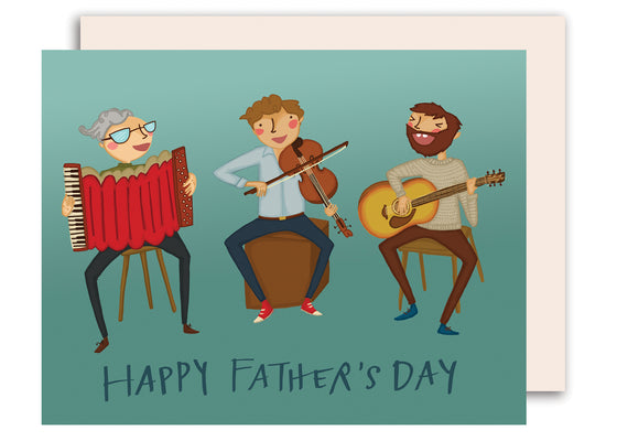 Music Trio - Happy Father's Day Card