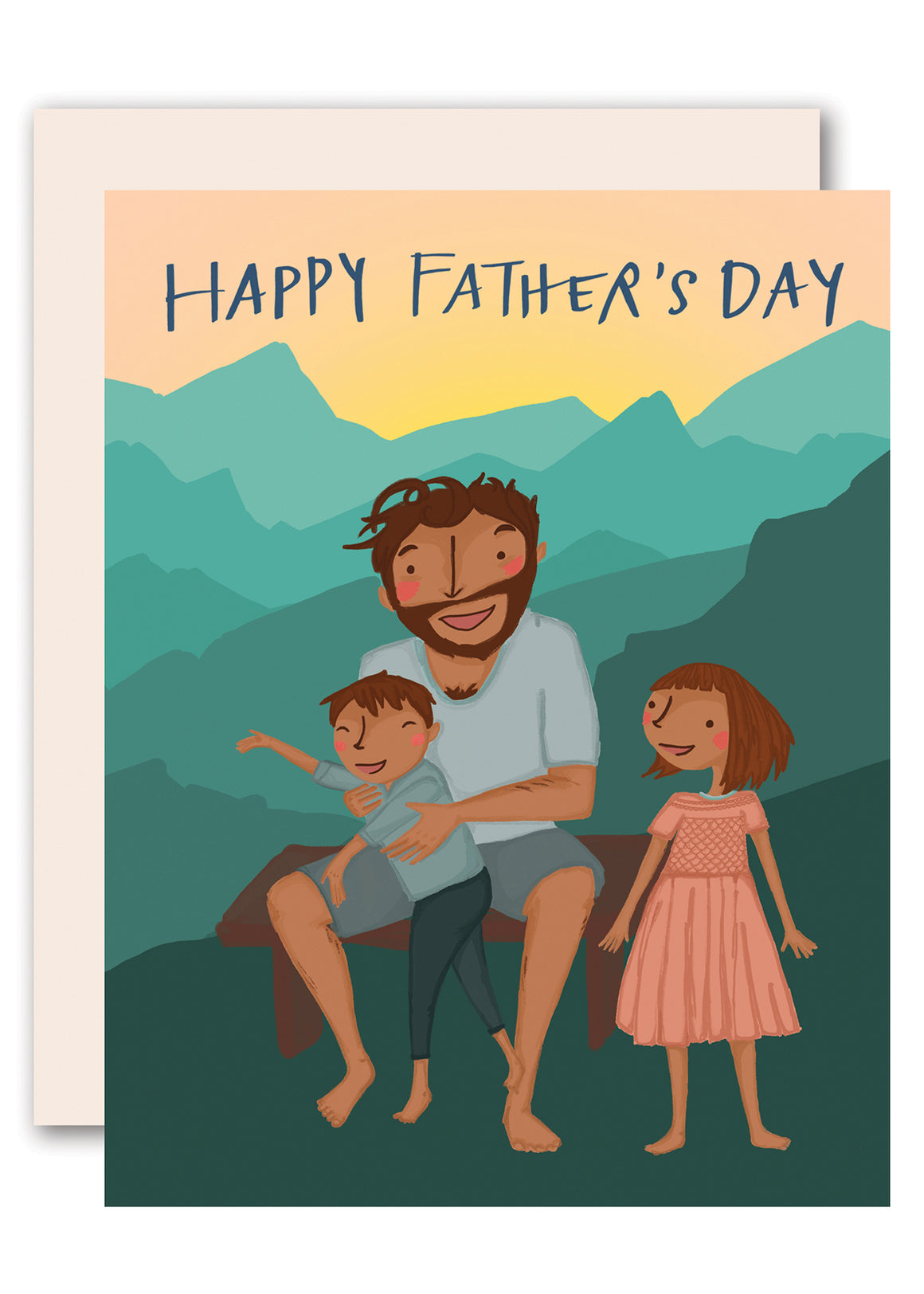 Mountains - Happy Father's Day Card