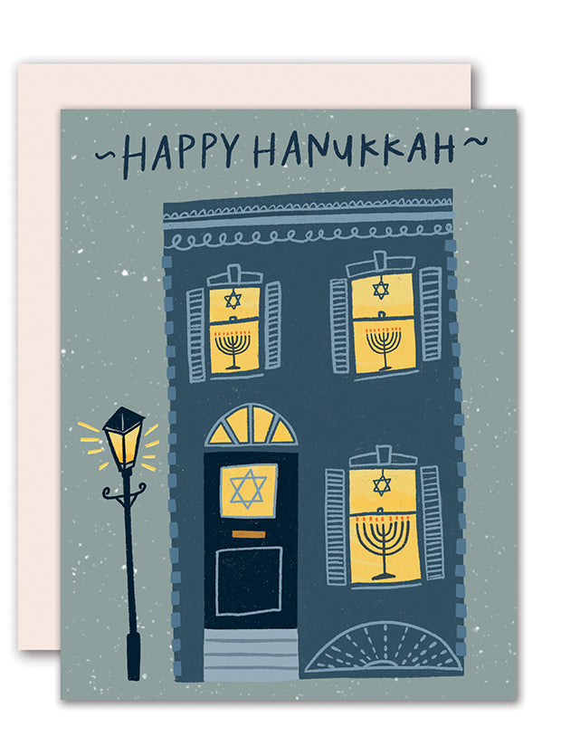 Hanukkah Townhouse card