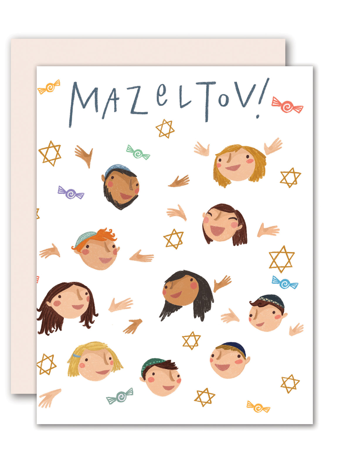 Bar mitzvah celebration card