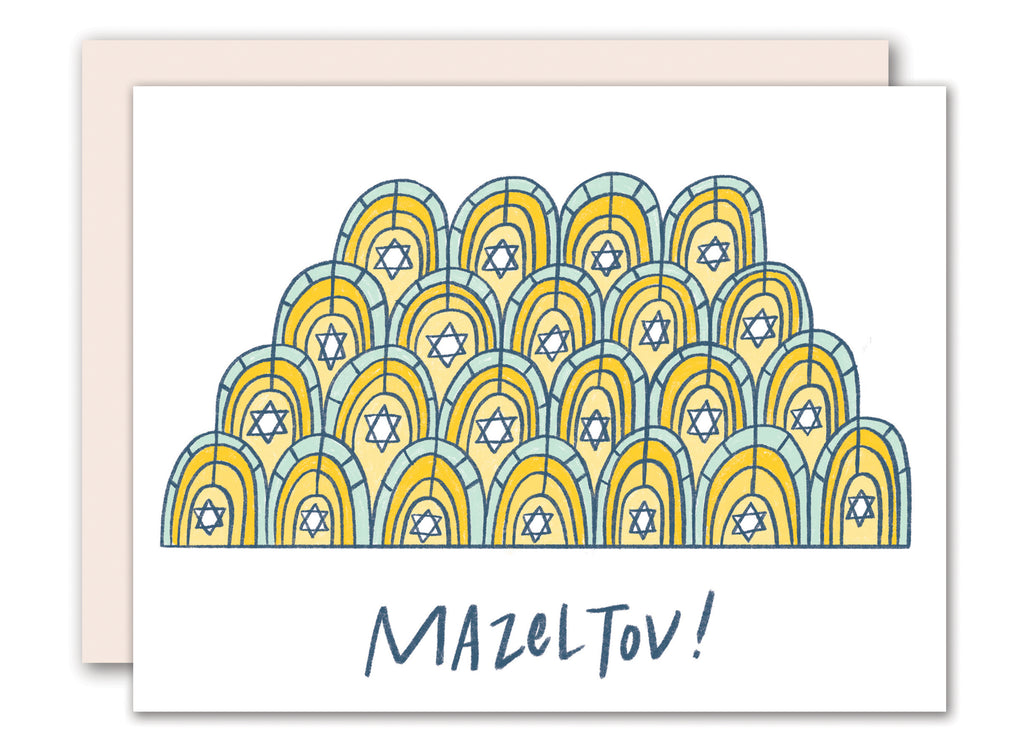 Bar mitzvah pattern card