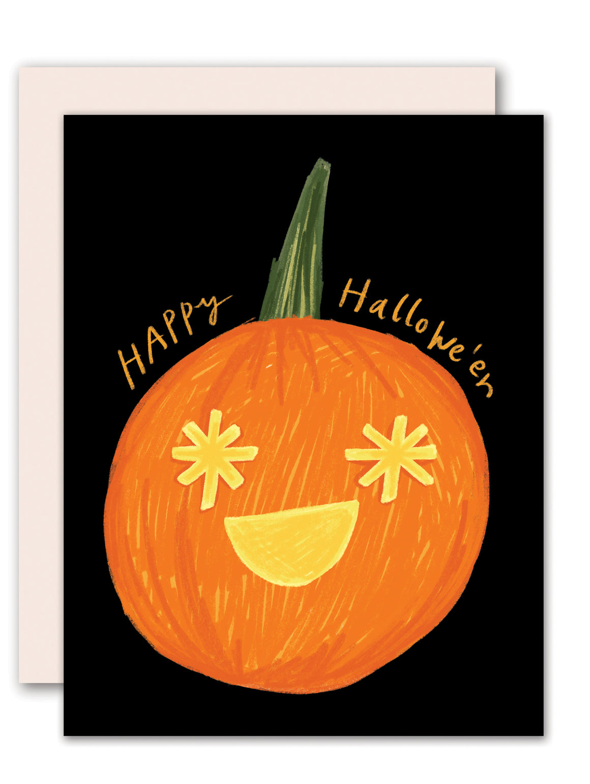 Pumpkin lantern Halloween Card