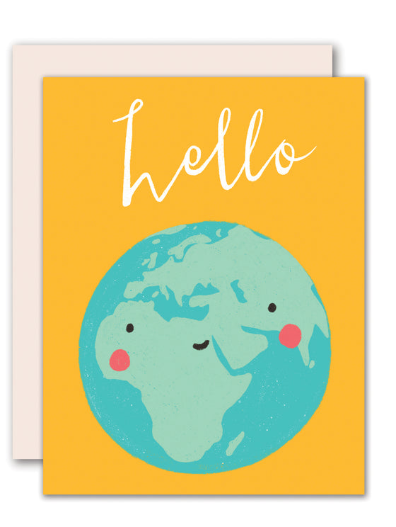 Hello, Earth - friendship card