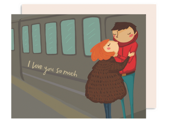 Train couple