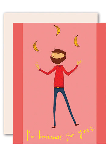 I'm Bananas for You Romantic Card